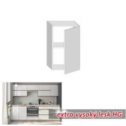 LINE WHITE Felső szekrény 1 ajtós függőleges extra magasfényű fehér