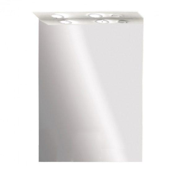 Toscano fürdőszoba tükör 65 cm LED megvilágítással, magasfényű festett fehér
