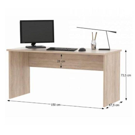 JOHAN NEW 1 Íróasztal sonoma tölgy