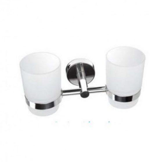 Uno dupla fogmosópohár tartó, üveg pohárral