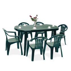 Elma 6+1 kerti bútor garnitúra szett