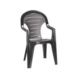 Bonaire műanyag kerti szék grafit