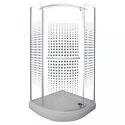 Emma 80x80 cm íves zuhanykabin art mintával zuhanytálca nélkül