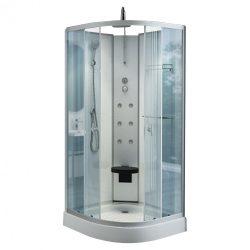 Lizetta 90x90 cm íves hidromasszázs zuhanykabin