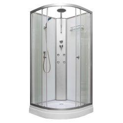 Lora 90x90 cm íves hidromasszázs zuhanykabin