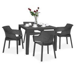 Evody Quartet 4+1 kerti bútor garnitúra szett