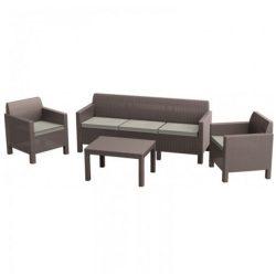 Orlando kerti bútor garnitúra 3 ülős kanapéval