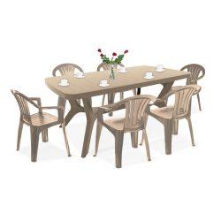 Balicia 6+1 kerti bútor garnitúra szett