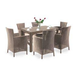 Liowa 6+1 kerti bútor garnitúra szett