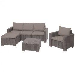 Moorea set kerti sarokkanapé, fotel és asztal összeállítás