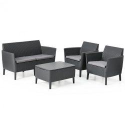 Salemo kerti bútor set kétülős kanapéval, 2 fotellel, kis asztallal