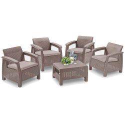 Corfu quartett 4+1 kerti bútor garnitúra szett