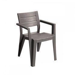 Julie kartámaszos műanyag kerti szék