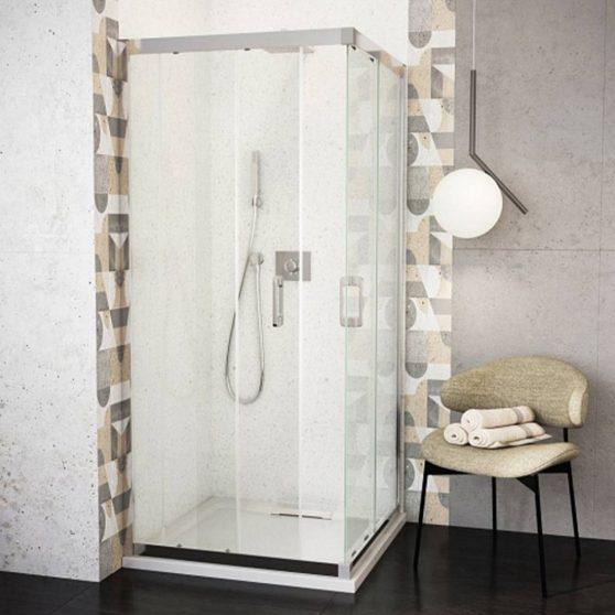 WB12 szögletes zuhanykabin zuhanytálca nélkül