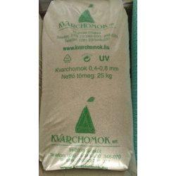 Kvarchomok, 0,4-0,8 mm homokszűrős vízforgatóhoz 25 kg