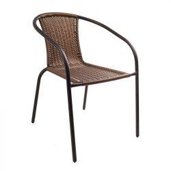 Herkules 2 kerti szék barna