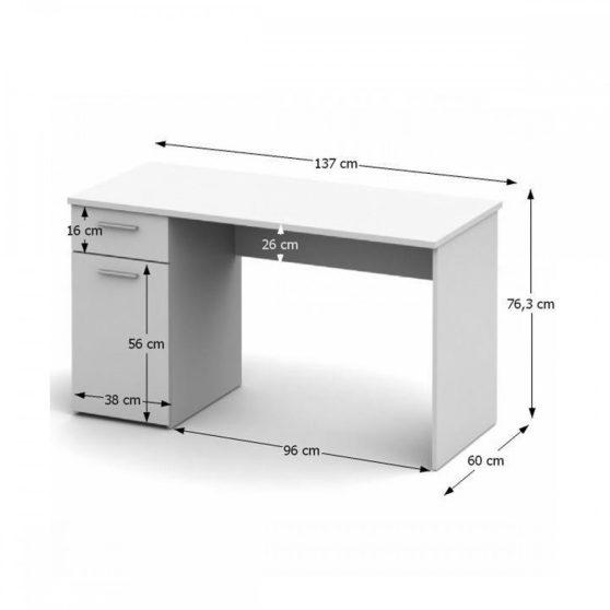 EGON Számítógépasztal, fehér