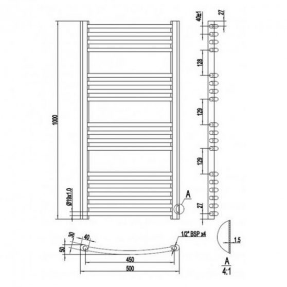 Simple White design radiátor több méretben