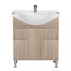 Bianca Plus 75 alsó szekrény mosdóval, sonoma tölgy színben