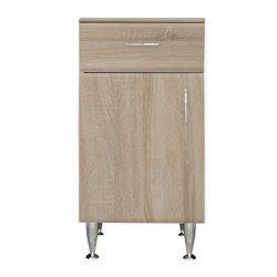Bianca Plus 45 alacsony szekrény 1 ajtóval, 1 fiókkal, sonoma tölgy színben, balos