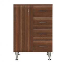 Bianca Plus 60 alacsony szekrény 1 ajtóval, 4 fiókkal,aida dió színben, balos