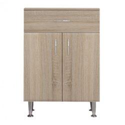 Bianca Plus 60 alacsony szekrény, 2 ajtóval, 1 fiókkal, sonoma tölgy színben