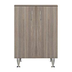 Bianca Plus 60 alacsony szekrény, 2 ajtóval, rauna szil színben