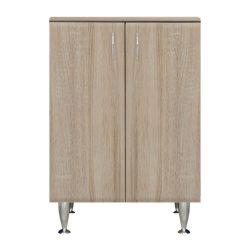 Bianca Plus 60 alacsony szekrény, 2 ajtóval, sonoma tölgy színben