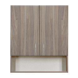 Bianca Plus 60-as Faliszekrény 2 ajtóval, nyitott alsó résszel, rauna szil színben