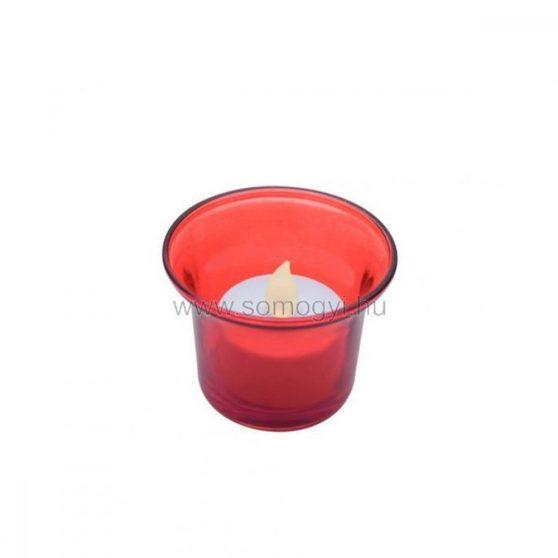 LED-es teamécses, piros tartóval, 3V