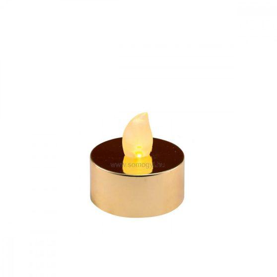 LED-es teamécses, fényes arany, 2 db, 3V