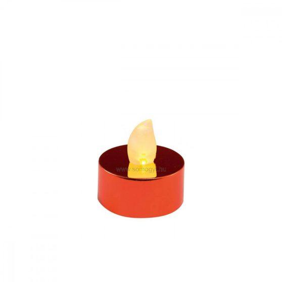 LED-es teamécses, fényes piros, 2 db, 3V