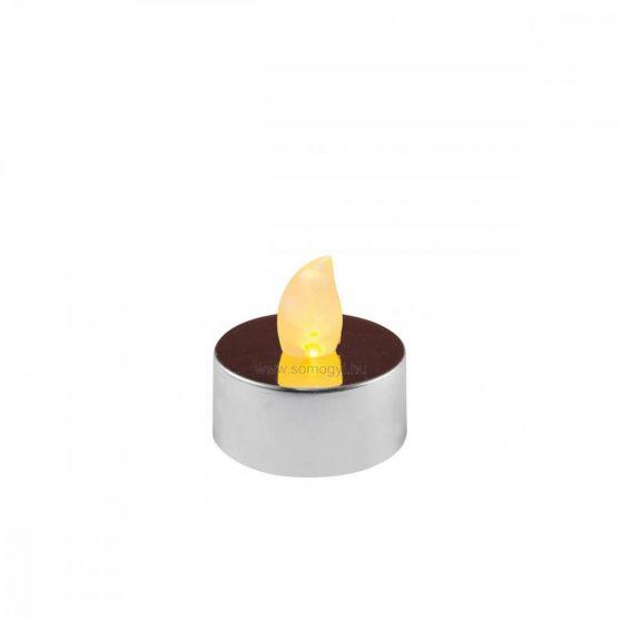 LED-es teamécses, fényes ezüst, 2 db, 3V