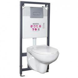Doris Chrome falba építhető WC tartály szett