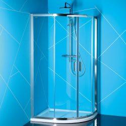 Polysan easy line 80x100 cm íves aszimmetrikus zuhanykabin zuhanytálca nélkül