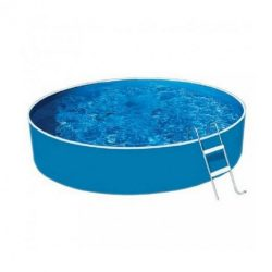 Lagoon Basic merevfalú kerek medence, homokszűrővel, misty fóliás 460x90 cm