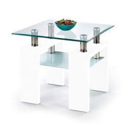 Diana H kwadrat lakkozott üveg lerakóasztal