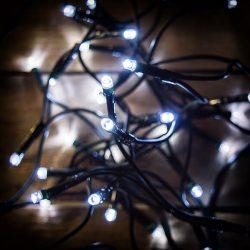 LED hideg fehér fényfüzér karácsonyfára