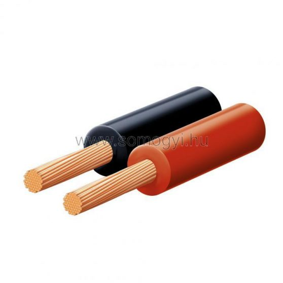Hangszóróvezeték, piros-fekete, 2x0,35mm, 10m