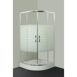 L621 mintás íves zuhanykabin 90x90 cm tálca nélkül
