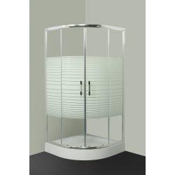 L623 mintás íves zuhanykabin 100x100 cm tálca nélkül
