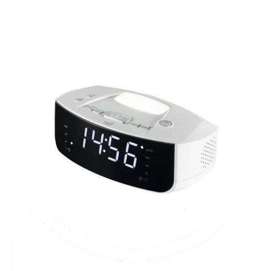 Digitális LED ébresztőóra rádióval és lámpával