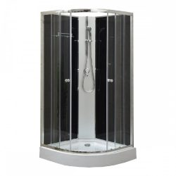 Marco Black II 90x90 cm zuhanykabin zuhanytálcával