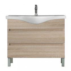 Seneca 105 cm-es bútorhoz alsószekrény, mosdóval, Sonoma tölgy