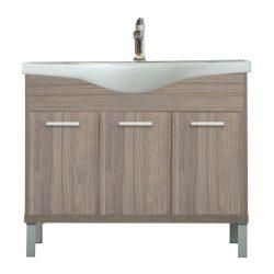 Nerva 105 cm-es bútorhoz alsószekrény, mosdóval, Rauna szil