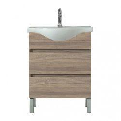 Seneca 65 cm-es bútorhoz alsószekrény, mosdóval, Rauna szil
