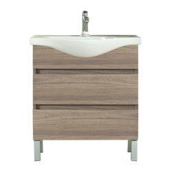 Seneca 75 cm-es bútorhoz alsószekrény, mosdóval, Rauna szil