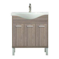 Nerva 75 cm-es bútorhoz alsószekrény, mosdóval, Rauna szil