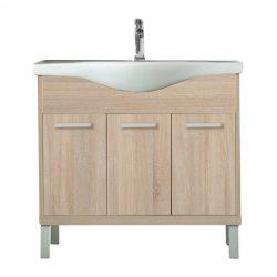 Nerva 85 cm-es bútorhoz alsószekrény, mosdóval, Sonoma tölgy