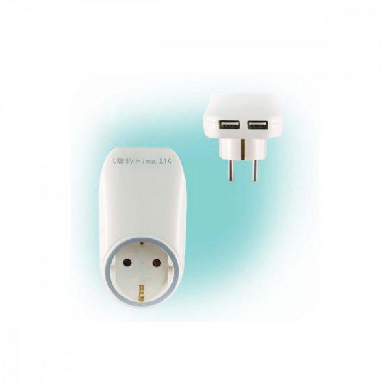 USB Hálózati aljzat USB töltőaljzatokkal